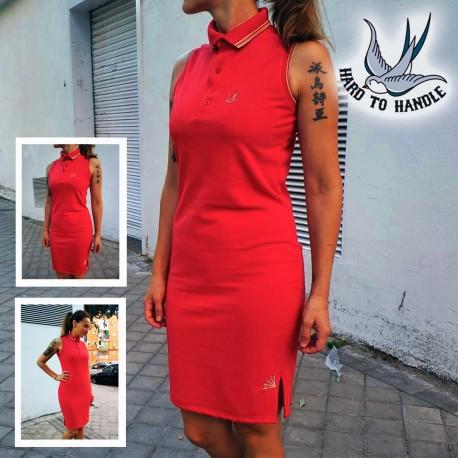 Girls HTH Polo Dress sleeveless - BLACK