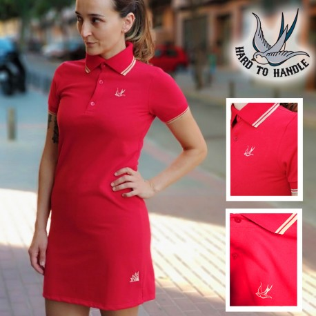 Girls HTH Polo Dress - RED