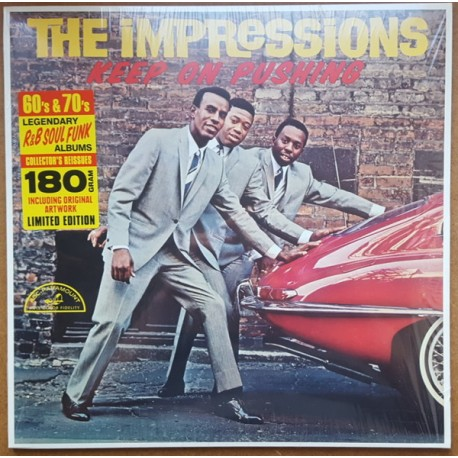 THE IMPRESSIONS - Keep On Pushing - LP