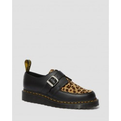 Zapato Dr. Martens CREEPER RAMSEY MONK HAIR Smooth - NEGRO Y LEOPARDO