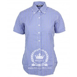Short Sleeve Buttom Down RELCO BLUE Ladies Shirt