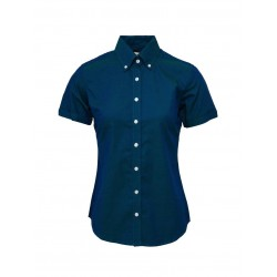 Short Sleeve Buttom Down RELCO TWO TONE TONIC BLUE Ladies Shirt