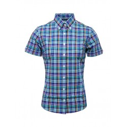 Short Sleeve Buttom Down RELCO MULTI CHECK Ladies Shirt