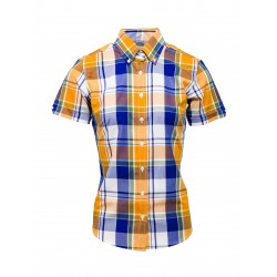 Short Sleeve Buttom Down RELCO YELLOW CHECK Ladies Shirt