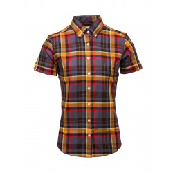 Short Sleeve Buttom Down RELCO GREY CHECK Ladies Shirt