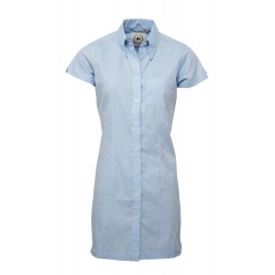 Short Sleeve Buttom Down RELCO BLUE Ladies  DRESS