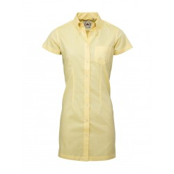Short Sleeve Buttom Down RELCO YELLOW  Ladies  DRESS