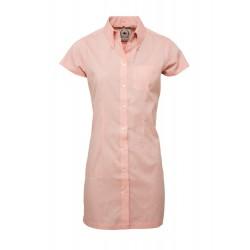 Short Sleeve Buttom Down RELCO PEACH  Ladies  DRESS