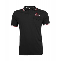 LONSDALE Polo Shirt Lynton Black With Red