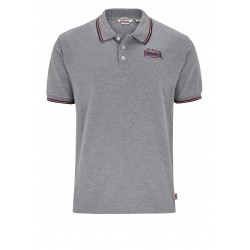 LONSDALE Polo Shirt Burton - Marl Grey