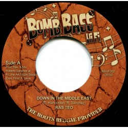 RAS TEO / LONE ARK RIDDIM FORCE - Down In The Middle east / Middle east Dub - 7""