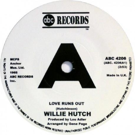 "BOBBY HUTON / WILLIE HUTCH - Lend A Hand / Love Runs Out - 7"""