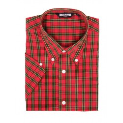 Short Sleeve Buttom Down RELCO RED CHECK Shirt