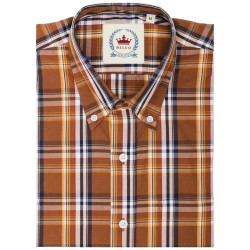 RELCO Short Sleeve Button-Down - Brown