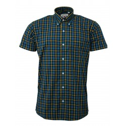 RELCO Short Sleeve Button-Down - PETROL