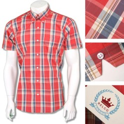 RELCO Short Sleeve Button-Down - BURNT ORANGE