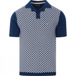 Merc WHARF Knit Polo Shirt Short Sleeved ROYAL BLUE