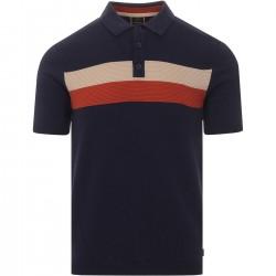 Merc CADBURY KNIT Polo Shirt Short Sleeved DARK NAVY