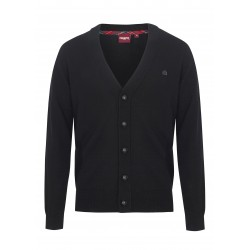 Merc HARRIS Pure Wool Cardigan - Black