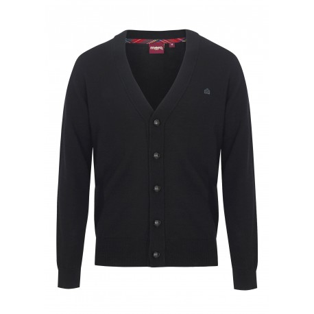 Merc HARRIS Pure Wool Cardigan - Black