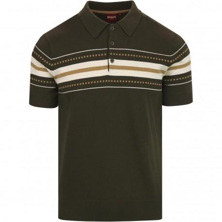 Merc TANNER KNIT Polo Shirt Short Sleeved - DARK SAGE