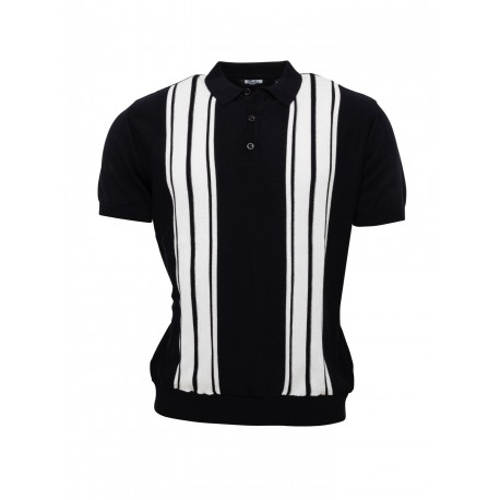 RELCO Knitted Polo Shirt Short Sleeved NAVY