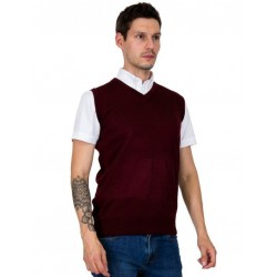 RELCO Mens v-neck Tank Top BURGUNDY