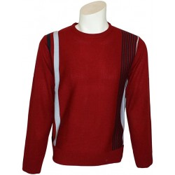 RELCO Mens Racing Stripe Jumper - RED
