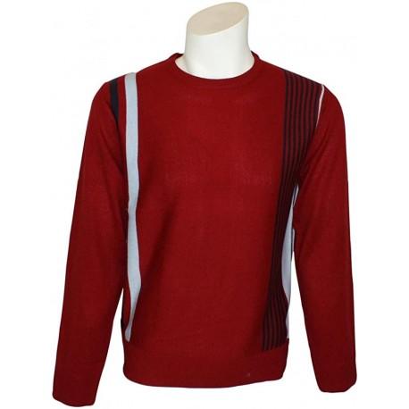RELCO Mens Racing Stripe Jumper - RED