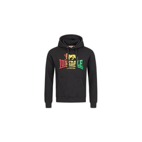 Hooded Sweatshirt LONSDALE SOUNDS - BLACK