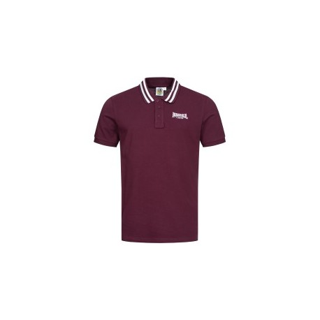 Polo Shirt LONSDALE BARLASTON - BURGUNDY