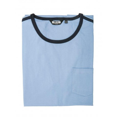 Camiseta RELCO de Rayas - AZUL CELESTE