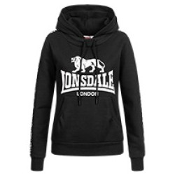 LONSDALE Woman's Hooded Sweatshirt DIHEWID - BLACK