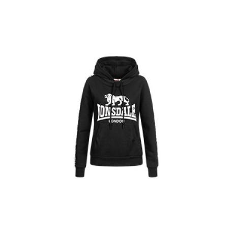LONSDALE Woman's Hooded Sweatshirt DIHEWID - BLACK