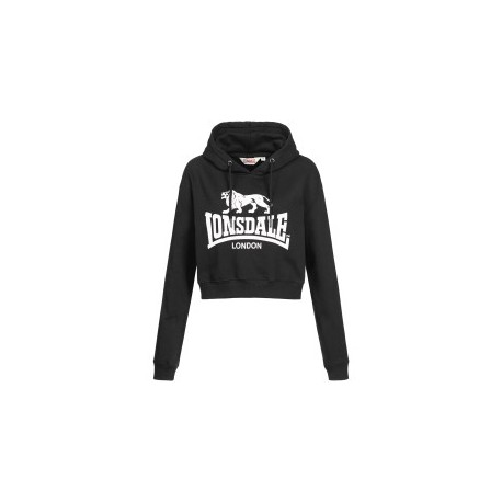 LONSDALE Woman's Hooded Sweatshirt ROXETH - BLACK