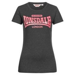 LONSDALE Ladies T-shirt TULSE - BLACK