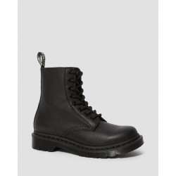 Dr. Martens 1460 PASCAL MONO VIRGINIA Leather Ankle Boots - BLACK