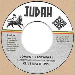 "CLIVE MATTHEWS – Love Of Rastafari   - 7"""