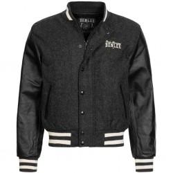 LONSDALE COLLAGE  Jacket - MARL ANTHRA/BLACK