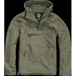 BRANDIT WINDBREAKER Jacket - OLIVE