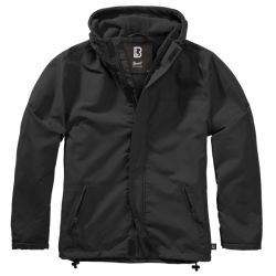 BRANDIT WINDBREAKER Frontzip Jacket - BLACK