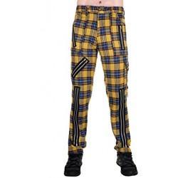 Pantalones Escoceses TIGER OF LONDON Cremalleras BONDAGE -  AMARILLOS