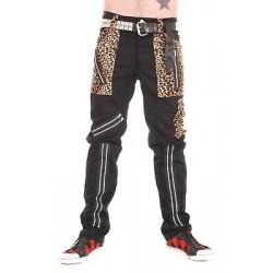Pantalones Leopardo TIGER OF LONDON Cremalleras BONDAGE - NEGROS