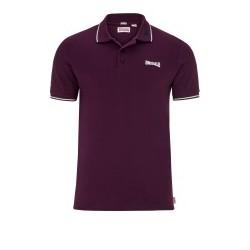 LONSDALE Slim Fit Polo Shirt LION - OXBLOOD