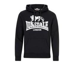 Hooded Sweatshirt LONSDALE GO SPORT 2 - BLACK