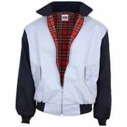 Rockabilly Harrington  Jacket - SKY With Black