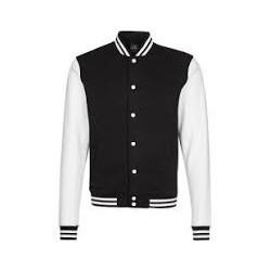 High School Jacket - BLACK / WHITE