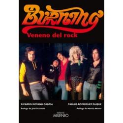 BURNING : Veneno Del Rock - Ricardo Moyano , Carlos Rodriguez - Libro