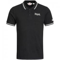 LONSDALE Polo Shirt  Slim Fit CAUSTON GOTS - BLACK