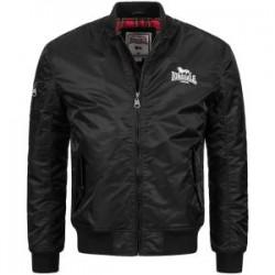 LONSDALE Bomber Jacket Slim Fit TERN HILL - BLACK